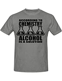 ACCORDING TO CHEMISTRY ALCOHOL IS A SOLUTION MEN'S T SHIRT,SMALL - 3XL