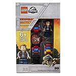 Orologio-componibile-da-polso-per-bambini-LEGO-Jurassic-World-8021261-con-cinturino-a-maglie-e-minifigure-Owen