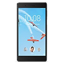 "Lenovo Tab 7 Tablet, Display 7"" HD, Processore MediaTek, 16 GB Espandibili fino a 128 GB, RAM 2 GB, WiFi+LTE, Android Nougat, Slate Black"