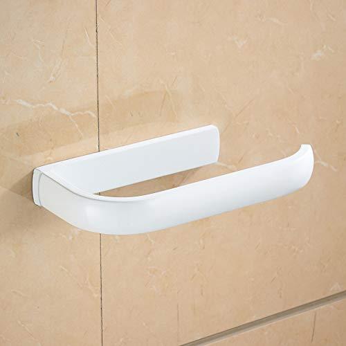 WOMAO Weiß Rollenhalter, Messing Toilettenpapierhalter, Elegant Klorollenhalter Stark Konstruktion für WC Wandmontag Wand Befestigung Einfach Modern Stil