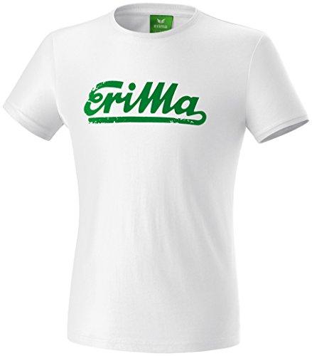 Erima Herren Retro T-Shirt, Weiß/Smaragd, XL, 208522