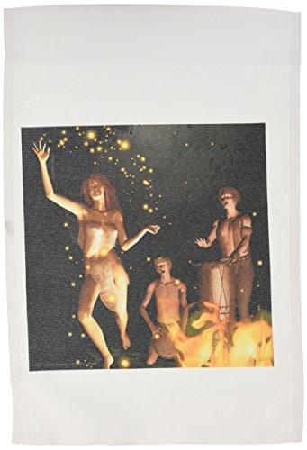 3drose FL _ 23169_ 1Fire Leap Pagan Bonfire Magic Hexerei Hexe 3D Garten Flagge, 12von 18 (Magic Leap)