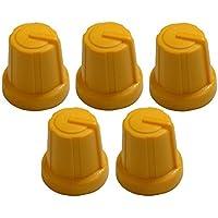 AERZETIX: 5x Botón para potenciómetro 6mm Amarillo C2596