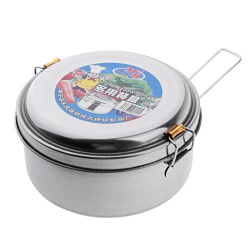 FLAMEER Lunchbox, Vorratsbehälter, Aufbewahrungsbox, Lunch Container für Picknick Camping Outdoor - Einzelne Schicht, 14 cm
