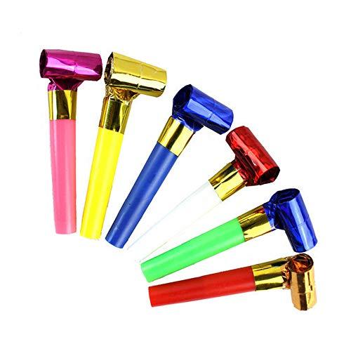 YHLVE 1 Stück Party Blowouts Bulk Papier Blowouts Party Favors Spielzeug, zufällige Farbe