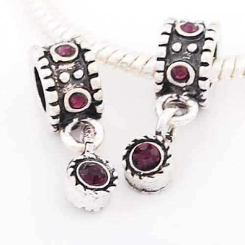 Secchi di perline strass pendente con perline, viola