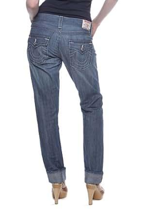 True Religion Boyfriend Jeans CAMERON Wash: KLM -CHATTANOOGA, Couleur: Bleu clair, Taille: 26