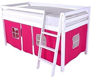 HLS Pink Tent for Midsleeper Cabin Bunk Bed …