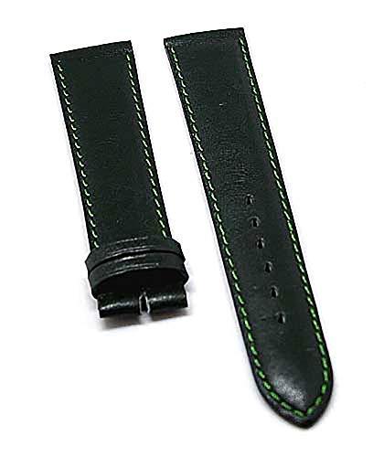 Fortis Uhrenarmband Leder Grün Ton in Ton 18mm 8496