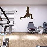 Vinyl Aufkleber Sport Team Fitness Training Barbell Gewicht Bodybuilder Athlet Gym Wandtattoo Sport...