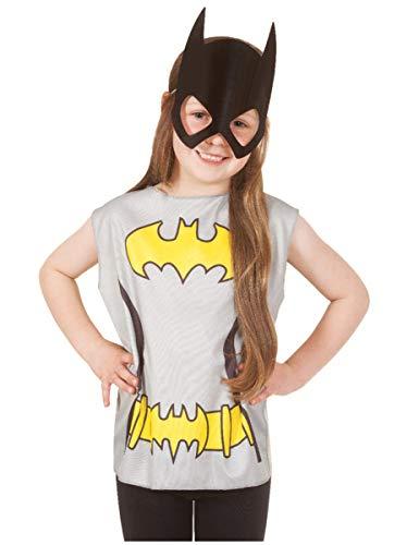 Kostüm T Batgirl Shirt - Generique Batgirl T-Shirt und Maske für Kinder Bunt 98/116 (3-6 Jahre)