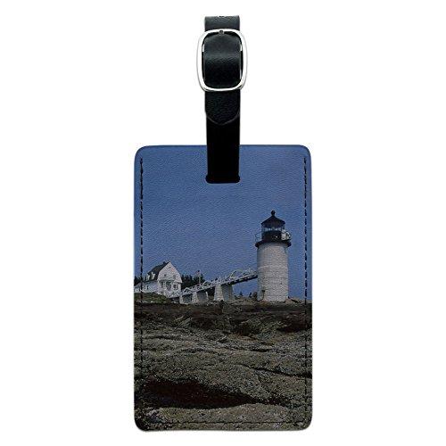 Maine Leuchtturm–Marshall Point Leder Gepäck ID Tag Koffer Handgepäck (Marshall Point)
