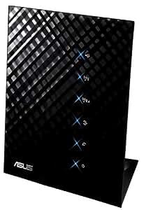 Asus RT-N56U N600 Black Diamond Dual-Band WLAN Router (802.11 a/b/g/n, Gigabit LAN/WAN, USB 2.0, Print FTP UPnP VPN Server, AiRadar)