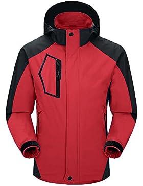 Aibrou Chaqueta Hombre/Mujer Impermeable Capucha de 100% poliéster de Alta calidad con un diseño espectacular