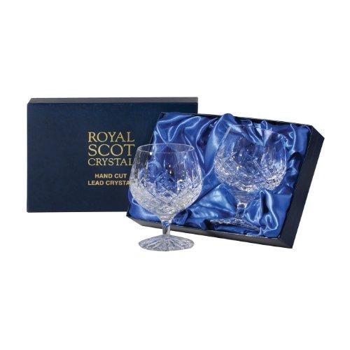 Royal Scot Crystal London Verres en cristal dans coffret de présentation Crystal Brandy Glass