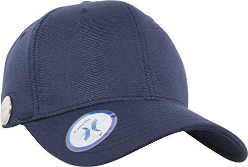Flexfit Golfer Magnetic Button Cap, navy, L/XL