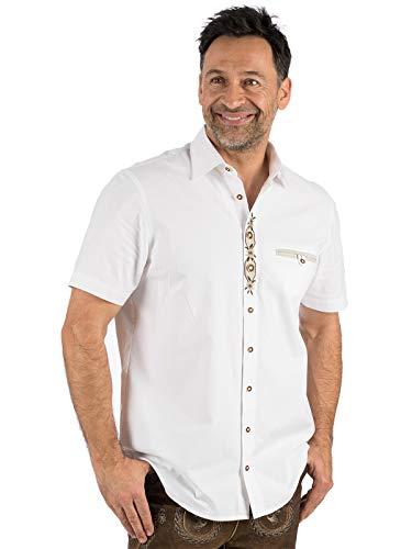 OS Trachten Trachten Kurzarmhemd FRANK weiß