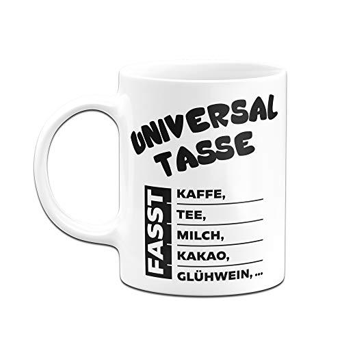 Tassenbrennerei Tasse mit Spruch Universal Tasse fasst Kaffee,Tee, Milch, Kakao, Glühwein Bürotasse Tassen mit Sprüchen (Weiss) - 2