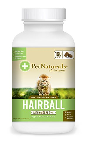 Pet Naturals® - Hairball, Daily Digestive, Skin and Coat Support for Cats, 160 Bite-Sized Chews (070031G.160) 1