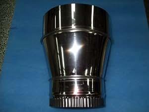 250mm à 200mm Diamètre Réducteur, en acier inoxydable tuyau de cheminée Système, conduits d'