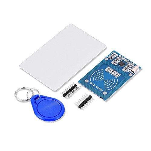 Tinxi mfrc, 522Kit RC522RFID avec carte transpondeur et carte RFID IC Mifare Module DC 3.3V 13,56MHz pour Arduino Raspberry Pi