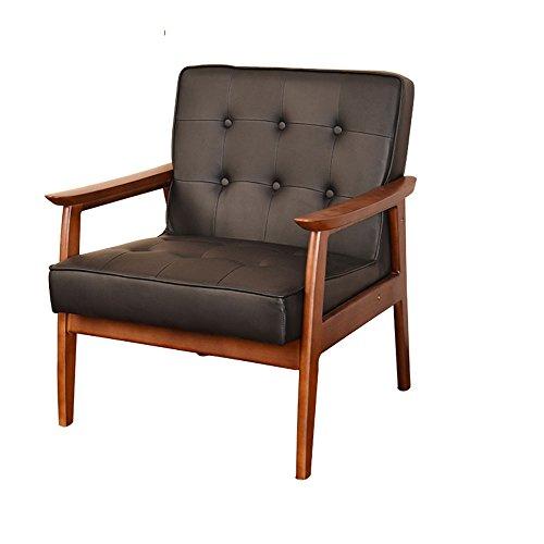 ZYX Stühle KFXL yizi Stuhl Single Lounge Chair Moderne minimalistische Massivholz Sofa Stuhl Einzelsitz 70,5 * 65 * 83 cm (Farbe : Honey Color) - Rote Moderne Lounge-stühle