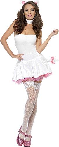 Kostüm Pussy - Fever, Damen Pretty Pussy Kostüm, Tutu Rock, Halsband und Ohren, One Size, 22875
