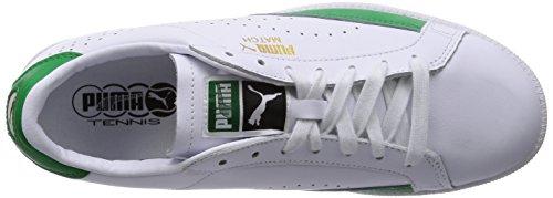 Puma Match 74 Unisex-Erwachsene Sneakers Weiß (white-fern green 03)