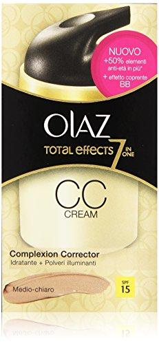Olaz - Cc Cream Correttore, Medio-Chiaro, Spf 15,  -  50 Ml