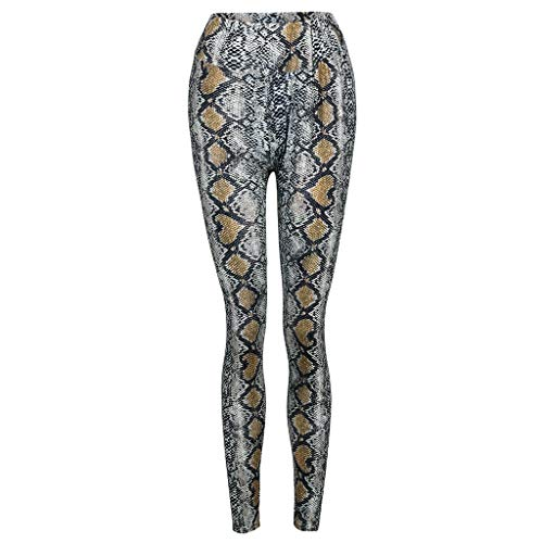 Epig Women Leopard Print Pants Lässige Leggings mit hoher Taille Stretch Pencil Trousers -