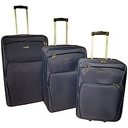 ravizzoni - Juego de maletas Azul turquesa