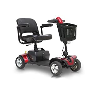 Pride Go-Go Elite Traveller Sport Mobility Scooter - Red