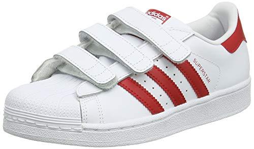 adidas Unisex-Kinder Superstar Cf C Fitnessschuhe Weiß (Blanco 000) 30 EU