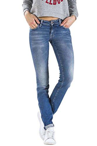 Meltin'Pot - Jeans MONIE D0132-UK418 für frau, zigarettenhosen, eng passend, sehr niedrige taille, mit fünf taschen - DENIM BLUE - 31 - Länge: 34 (Größe DE 40 - INT. M)