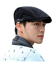 LOCOMO Plain Color Cotton Newsboy Beret Cap Hat FFH038