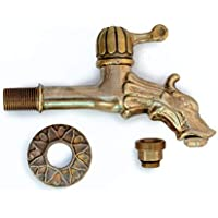 Antikas - Wasserhahn Drache Messing - Wasserspeier Drehgriff Wasserhahn für Gartenbrunnen