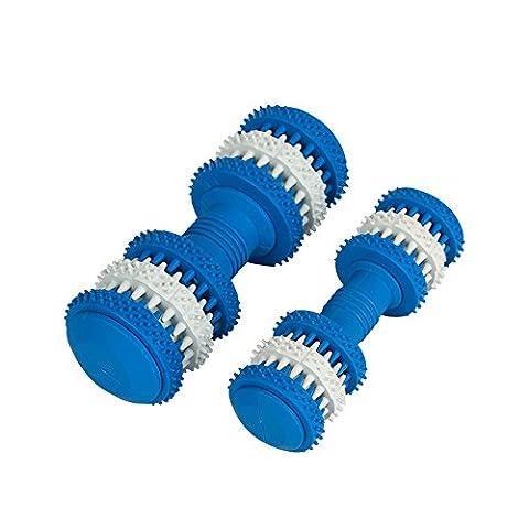 Interaktives Spielzeug für Welpen-Quietschen Hund Agility Gummi Spielzeug für Welpen und kleine Medium Große Hunde-Füllen Kauen Spielzeug mit Leckerlis Stop Langeweile Kauen Spielzeug-Knochen Form Design reinigt Zähne