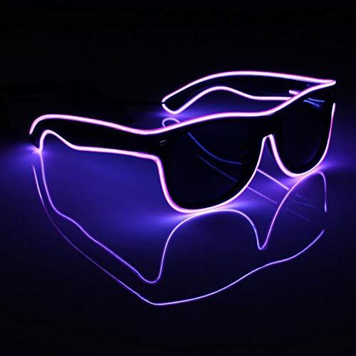 Recycling Kostüm Einfaches - Nachtlicht 4 Stücke Neon El Draht Led Sound Control Leuchten Shutter Shaped Brille Brillen Kostüm Neuheit Beleuchtung
