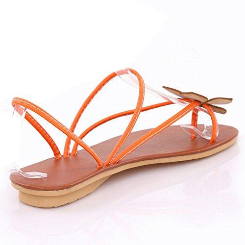 COOLCEPT Mode Infradito Sandali Scarpe da Estate Punta Aperta Arancione