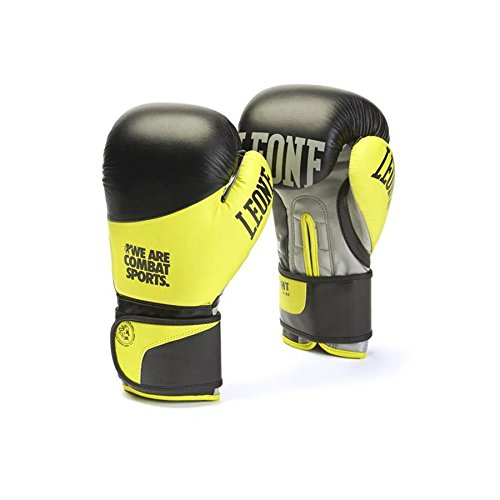 Leone 1947 Fight, Guantoni Boxe Unisex - Adulto, Giallo, 10 Oz