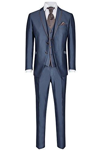 Wilvorst Hochzeitsanzug Mika, saphirblauen Couture Uni, Slimline Größe 98