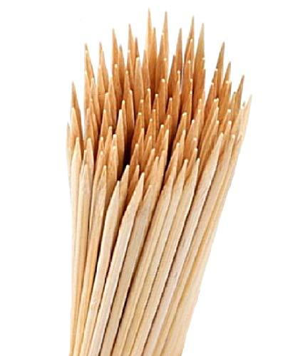 120 Schaschlikstäbe 30 cm lang Bambusspieße BBQ Sticks für Obst Kebabs Schokolade Brunnen Sticks Holz Spieße Marshmallow Sticks Rösten Lagerfeuer umweltfreundlich Party Essentials und Festivals