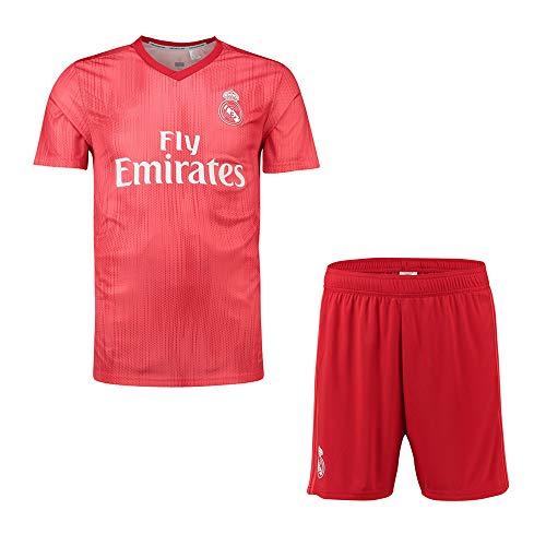 2018-2019/2019-2020 UEFA Personalisiertes Fußball Fussball Trikots für Kinder/Herren/Damen/Erwachsene - Personalisierte Club Team Fußball T-Shirt & Shorts mit Namen + Nummer (Socken Senden) (Damen Trikot Real Madrid)