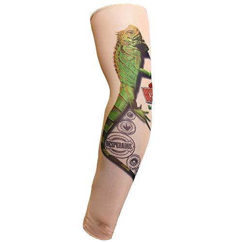 4er Pack Arm Ärmel, Tattoo Ärmel für Männer Frauen, Fake Piercings Temporäre Tattoos Cover Up Ärmel, Das Mädchen mit dem Drachen Tattoo