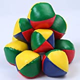 URATOT 10 Pack Juggling Balls Beginners Juggling Balls Durable and Colorful with a Bag for Juggle Toy Game
