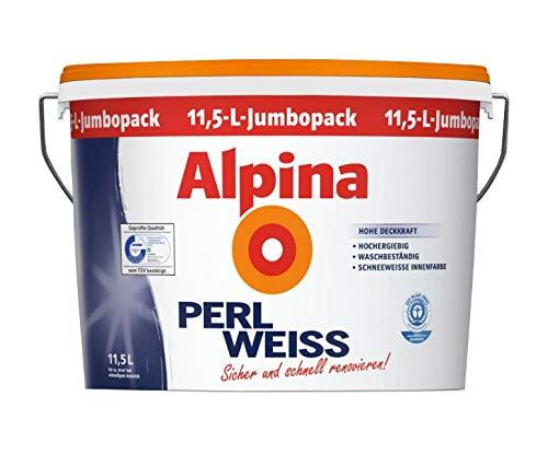 11,5 Liter Alpina PerlWeiss Weiße Wandfarbe Schneeweiss Matt für ca. 70 m²