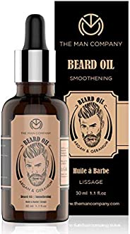 The Man Company Beard Growth Oil With Argan & Geranium For Beard Growth | Softness, Shine | 3