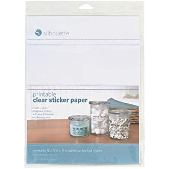 silhouette inkjet printable sticker paper clear 8 sheets