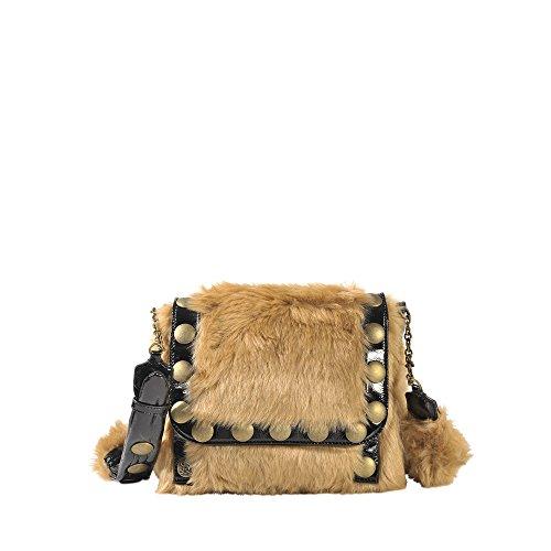 Tasche mit Taschenklappe Nikki Braun