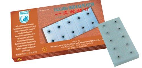 Ohrsamen mit Pflaster, Vaccaria Seed, Ohrpflaster 100 Stück/Packung v. Shenzhou - sehr gute Qualität, Ohr-Akupressur